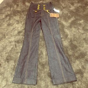 AWESOME High waisted nautical jeans